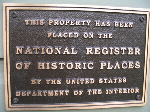 National Register of Historic Places Plaque in Portland, Oregon.