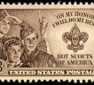 Boy Scouts of America on a US postage stamp.