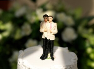 Same-Sex marriage wedding cake topper.