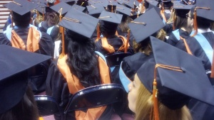 Affirmative action students at a graduation ceremony.