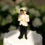 Same-sex wedding cake topper.